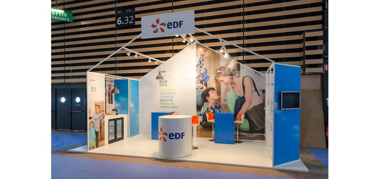 Edf stand interior retail design retail furniture - Ma maison bleu ciel edf ...